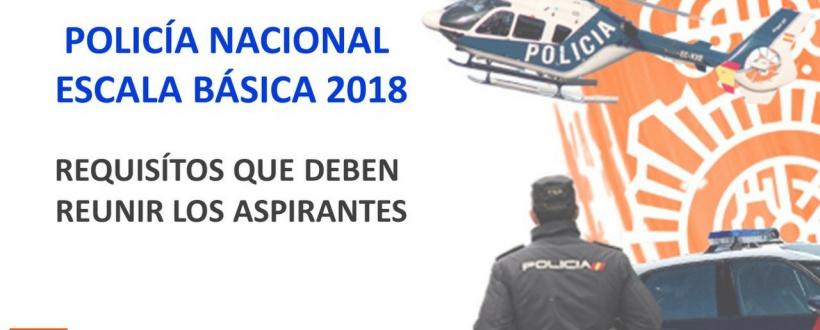 Requisitos aspirantes para la Oposición Policía Nacional Escala Básica 2018