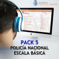 Pack 05 Oposición Policía Nacional Escala Básica