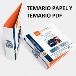 Temario papel + PDF Oposición Escala Básica Policía Nacional 2020