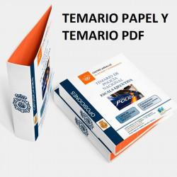 Temario papel +PDF Oposición Escala Ejecutiva de la Policía Nacional 2020