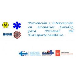 Curso de Prevención e intervención en escenarios Covid-19 para Personal del Transporte Sanitario