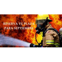 Reserva plaza Bomberos Septiembre curso 2020-2021